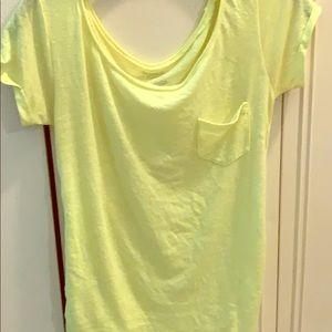 Neon yellow short sleeve t
